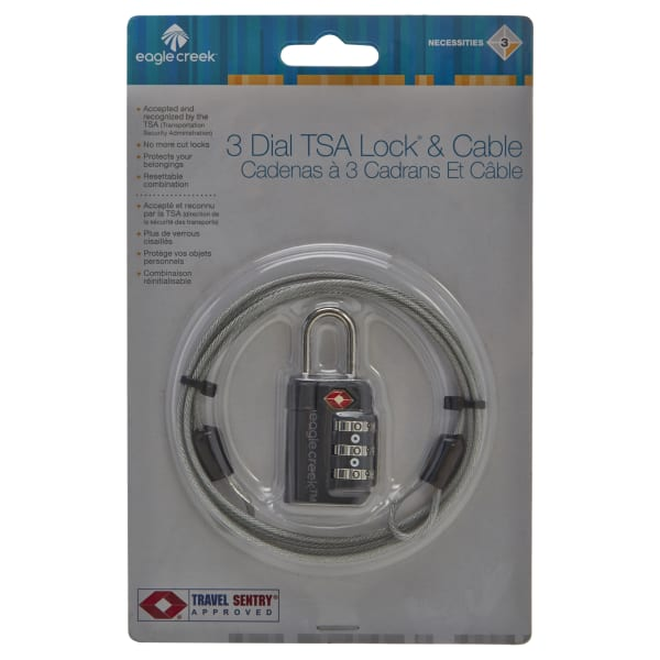 Eagle Creek Necessities Security 3-Dial TSA Lock and Cable 6,5 cm Produktbild