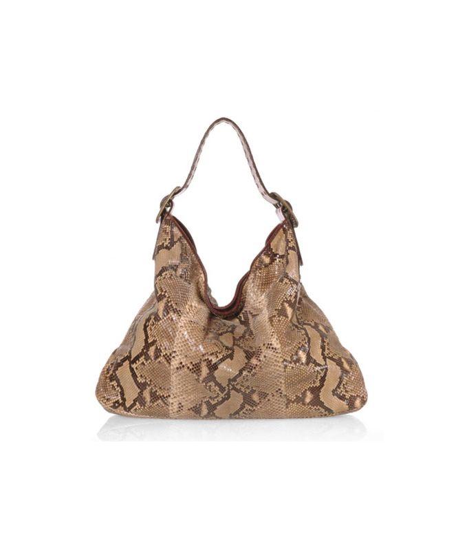 Be & E Crawford Roccia Python Hobo Handbag