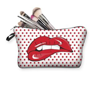 Fabric Pop-Art Cosmetics Travel Bag