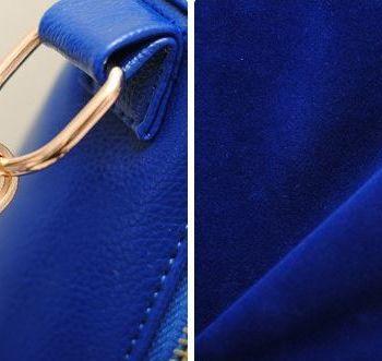 Studded Face Handbag with Side Slit-Pocket Hardware Close-Up