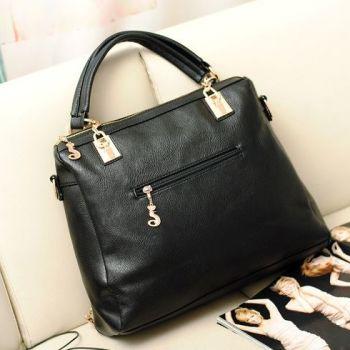Back of Studded Face Handbag with Side Slit-Pocket In-Situ on Sofa