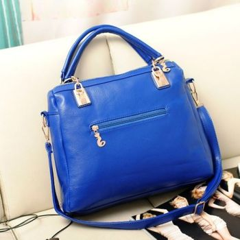 Back of Studded Face Handbag with Side Slit-Pocket In Situ