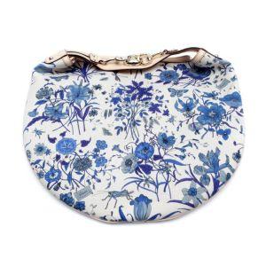 Gucci Beige & Blues Toile Canvas Garden Print Pelham Hobo Bag