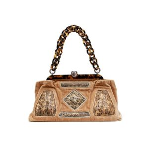 Bottega Veneta Python Resin Handle Runway Satchel Bag