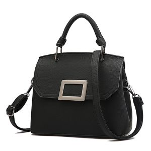 Black McBeal Top-Handle Flap Satchel