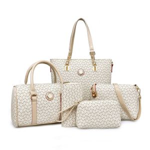 5 Piece JP Handbag Set With Shopper, Doctor, Shoulder, Clutch & Purse