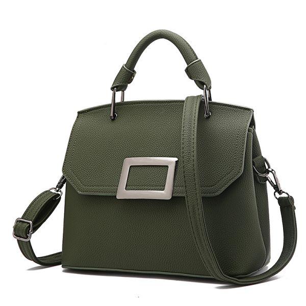 Green McBeal Top-Handle Flap Satchel