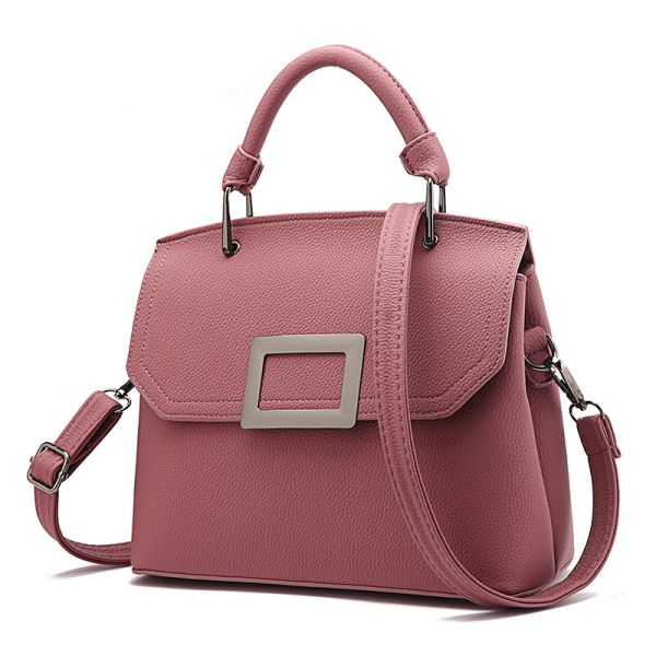 Pink McBeal Top-Handle Flap Satchel