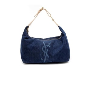 Yves Saint Laurent Blue Denim Hobo Bag