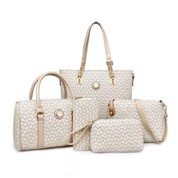 5 Piece JP Handbag Set With Shopper, Doctor, Shoulder, Clutch & Purse