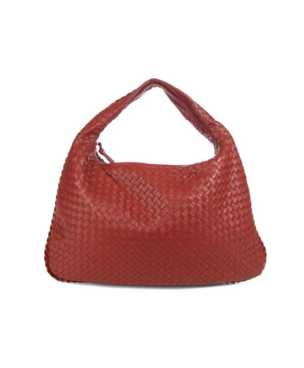 Bottega Veneta Large Crimson Veneta Hobo Handbag