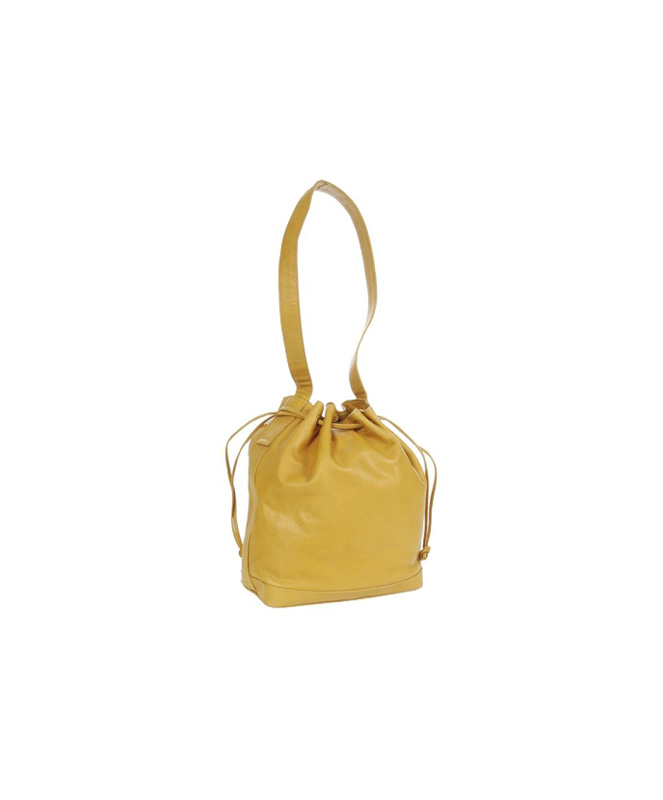 Bottega Veneta Mustard Yellow Cinch Sac Shoulder Bag