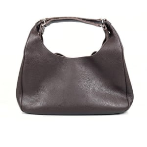 Bottega Veneta Ebano Brown Catalano Calfskin Campana Hobo Handbag