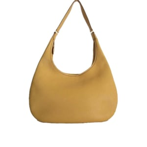 Hèrmes Curry Clemence Leather Gao Shoulder Hobo Bag