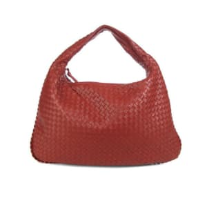 Bottega Veneta Large Crimson Veneta Hobo Handbag