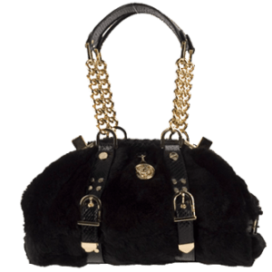 Versace Fax Fur Handbag