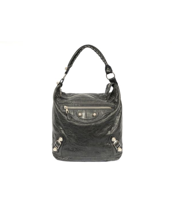 Balenciaga Giant Day Leather Hobo with Giant Silver Hardware