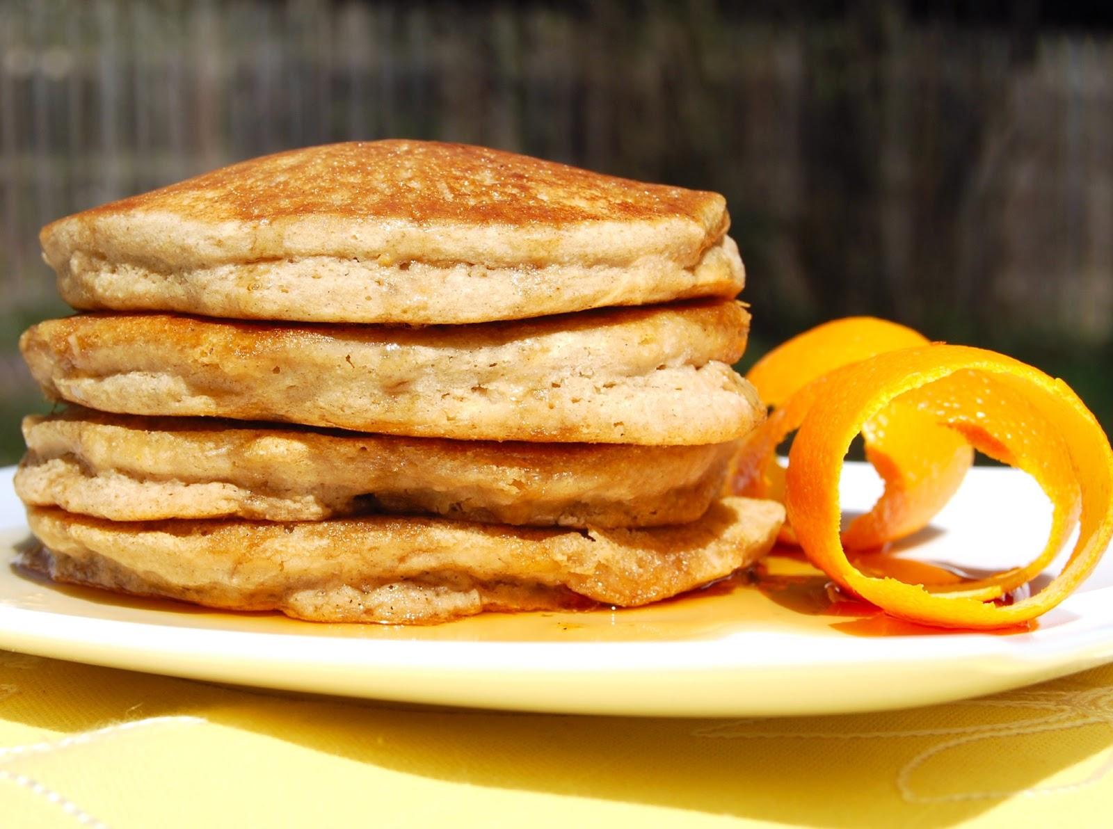 Vegan American pancakes with cassava flour
