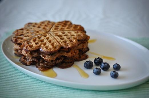 Waffles with banana flour