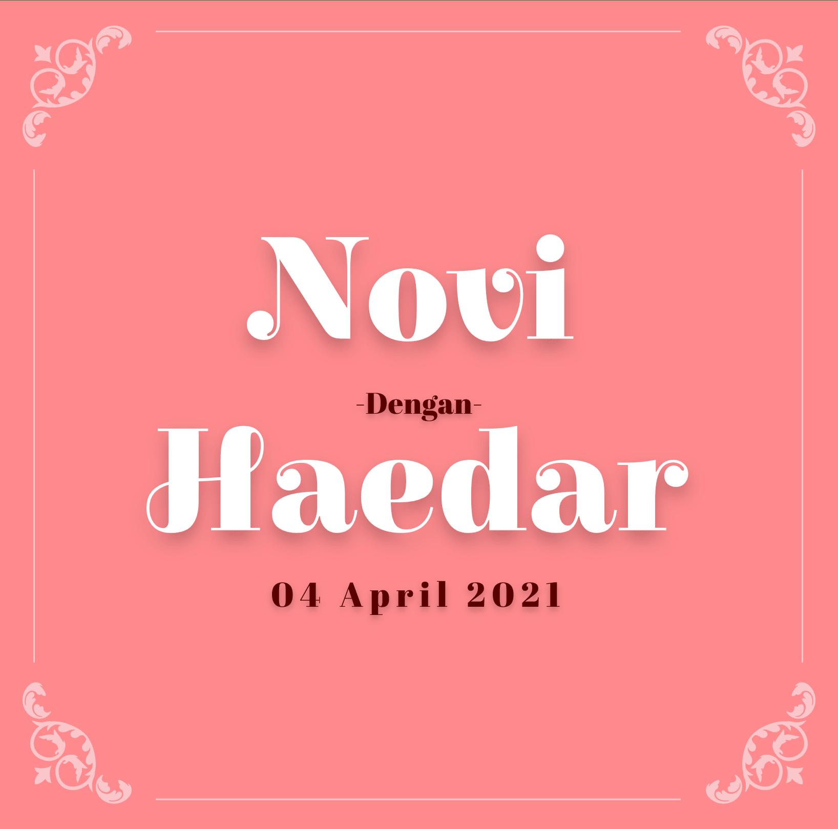Undangan Novi Haedar