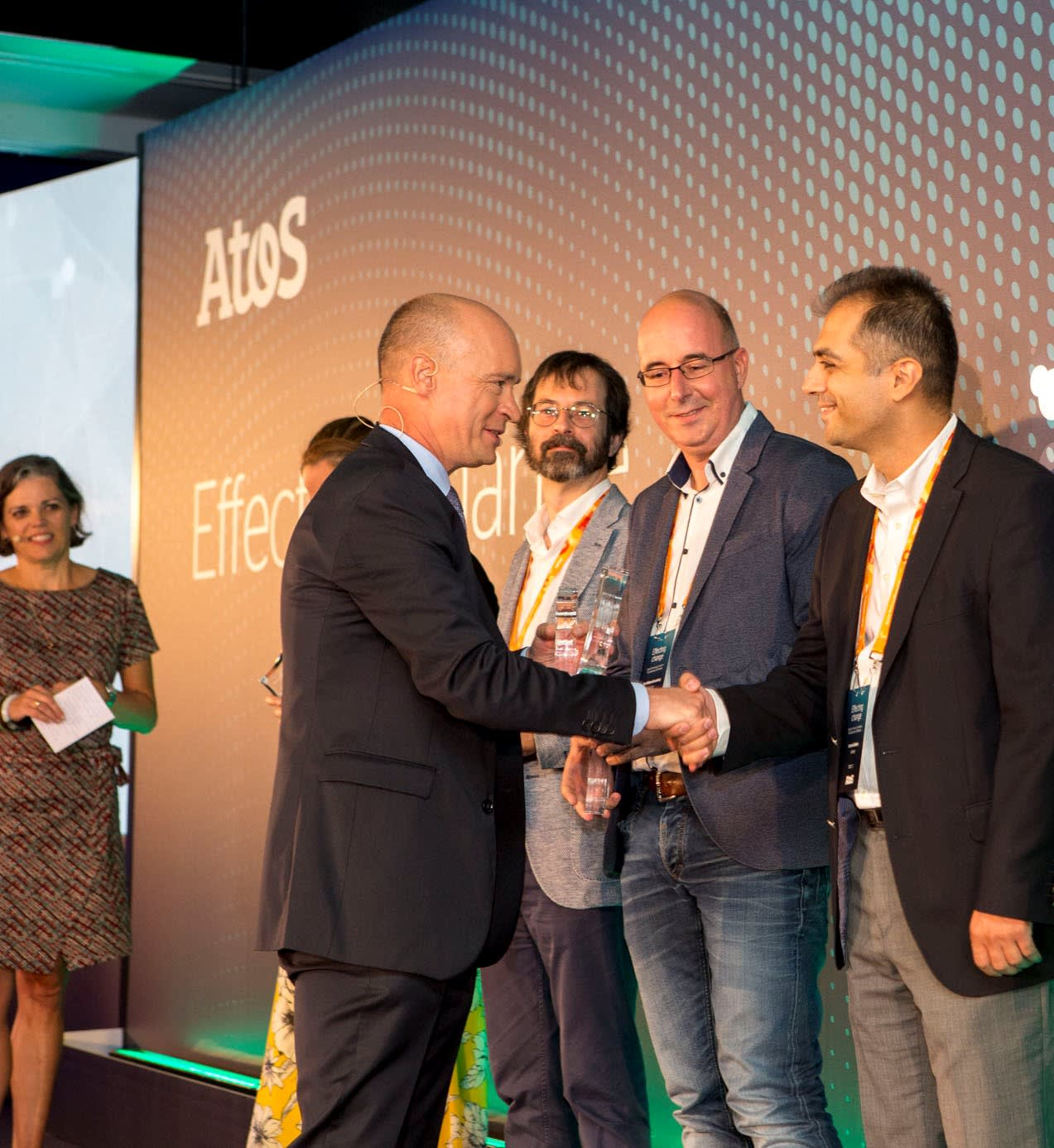 Receiving the 2019 Excellence Winner award from Philippe Mareine (SEVP, Chief Digital & Transformation Officer, Head of Group HR, CSR and Global Siemens Alliance) for my contribution to Atos Expert Community. Atos Expert Convention 2019, Madrid/Spain