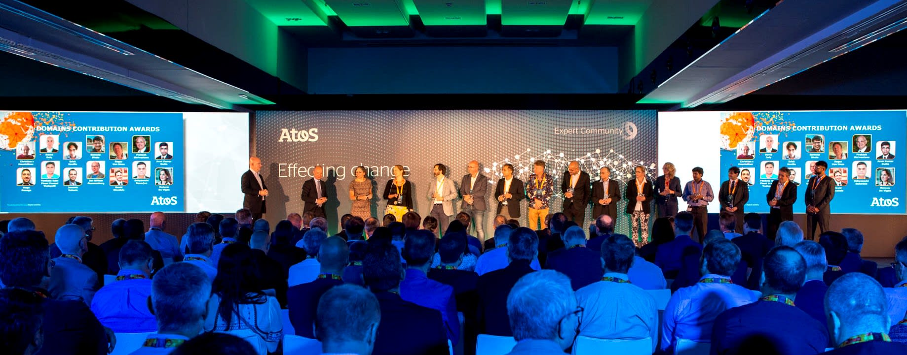 The lineup of 2019 Excellence Winners at Atos Expert Convention 2019, Madrid/Spain