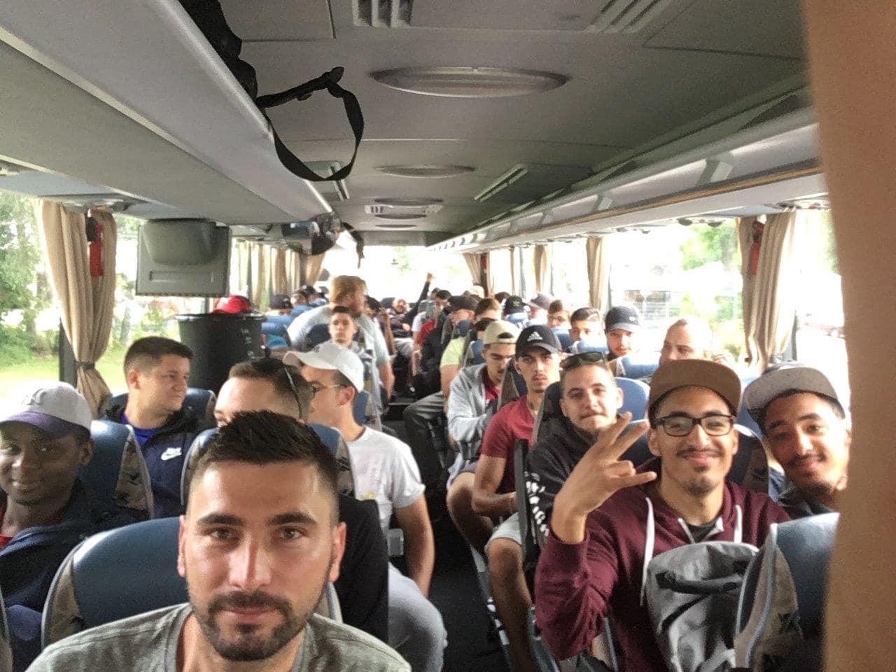 Anfahrt nach Plochingen im Bus