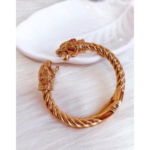 Bracelete tigre dourado - Verniz Italiano