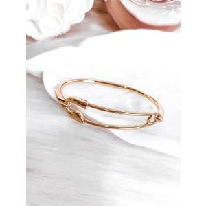 Bracelete Clipes Dourado