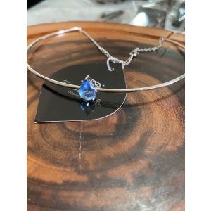 Chocker rígida com cristal Azul