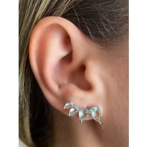 Brinco earcuff com pedras em cristal