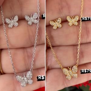 Colar borboleta delicada
