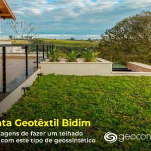 5 Vantagens de fazer um telhado verde com a manta Bidim geotêxtil