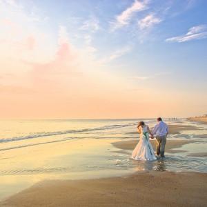 O vestido ideal para o casamento pé na areia
