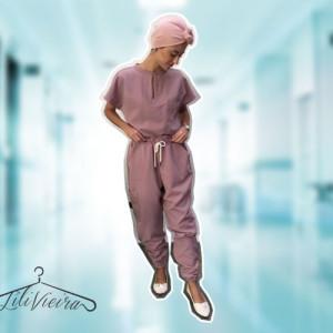 Scrub Feminino: Pijama Cirúrgico Tamanho M