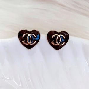 Brinco Inspiração - Chanel - Coração Preto