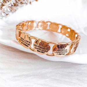 Bracelete 10 Mandamentos Dourado