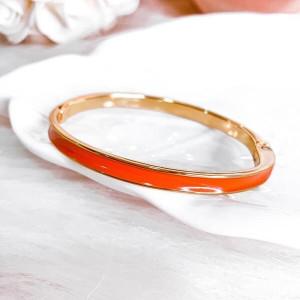 Bracelete Resinado Laranja