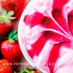Fotografia de gastronomia para sorveteria