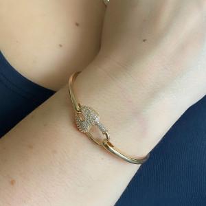 Bracelete de Cadeado em formato de Coração