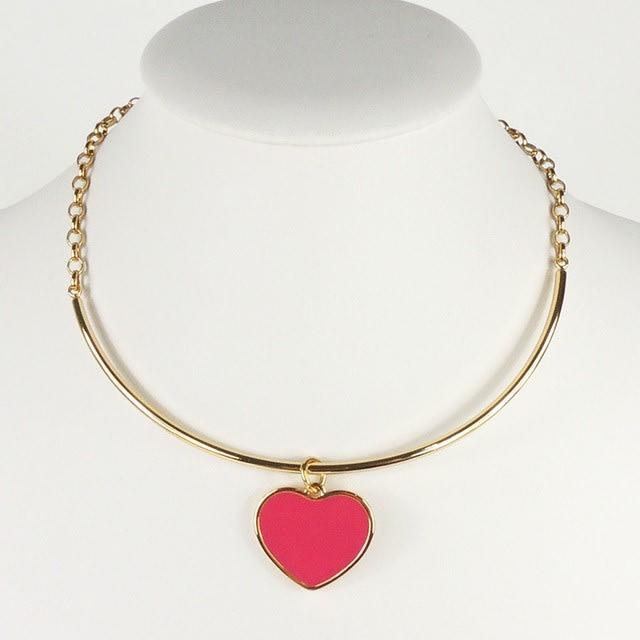 Conj Colar e bracelete Amor Pink