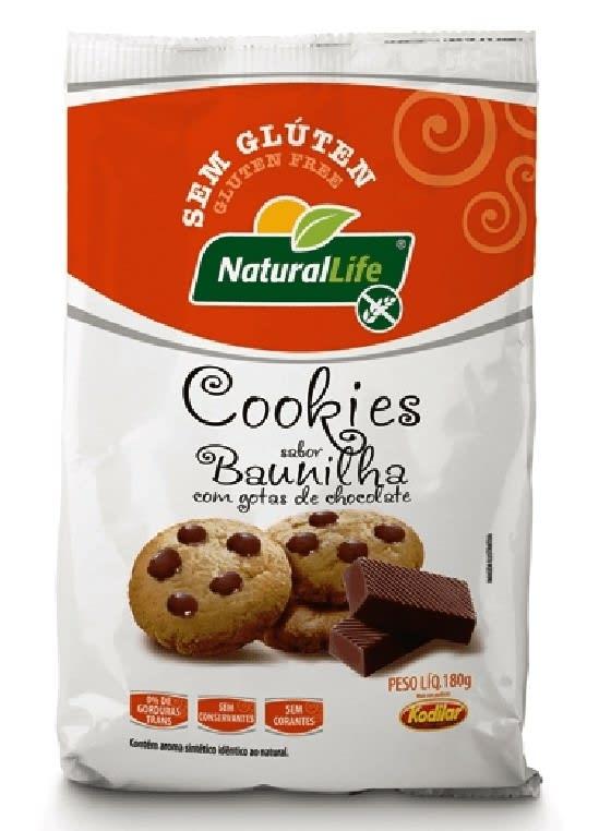 COOKIE BAUNILHA COM GOTAS CHOCOLATE NATURAL LIFE