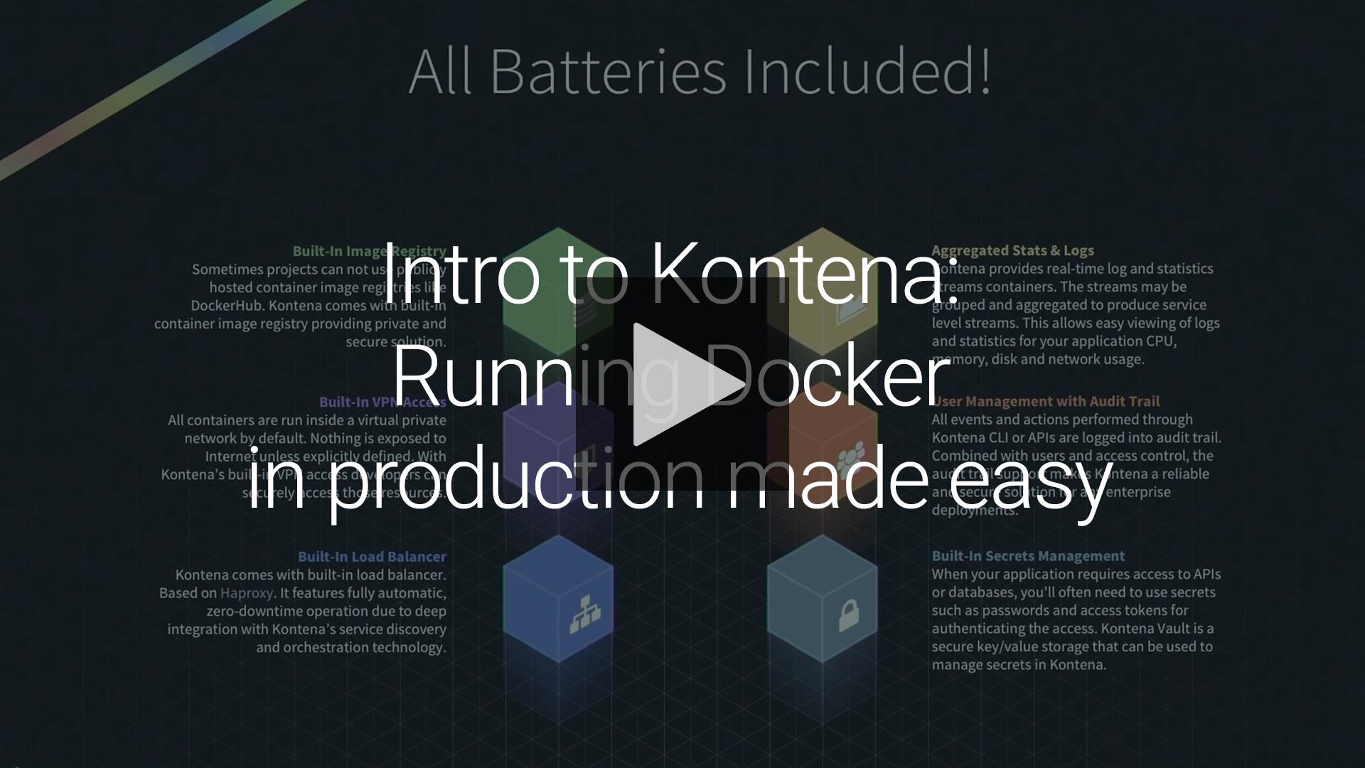 Kontena | Tutorial Video: Intro to Kontena: Running Docker