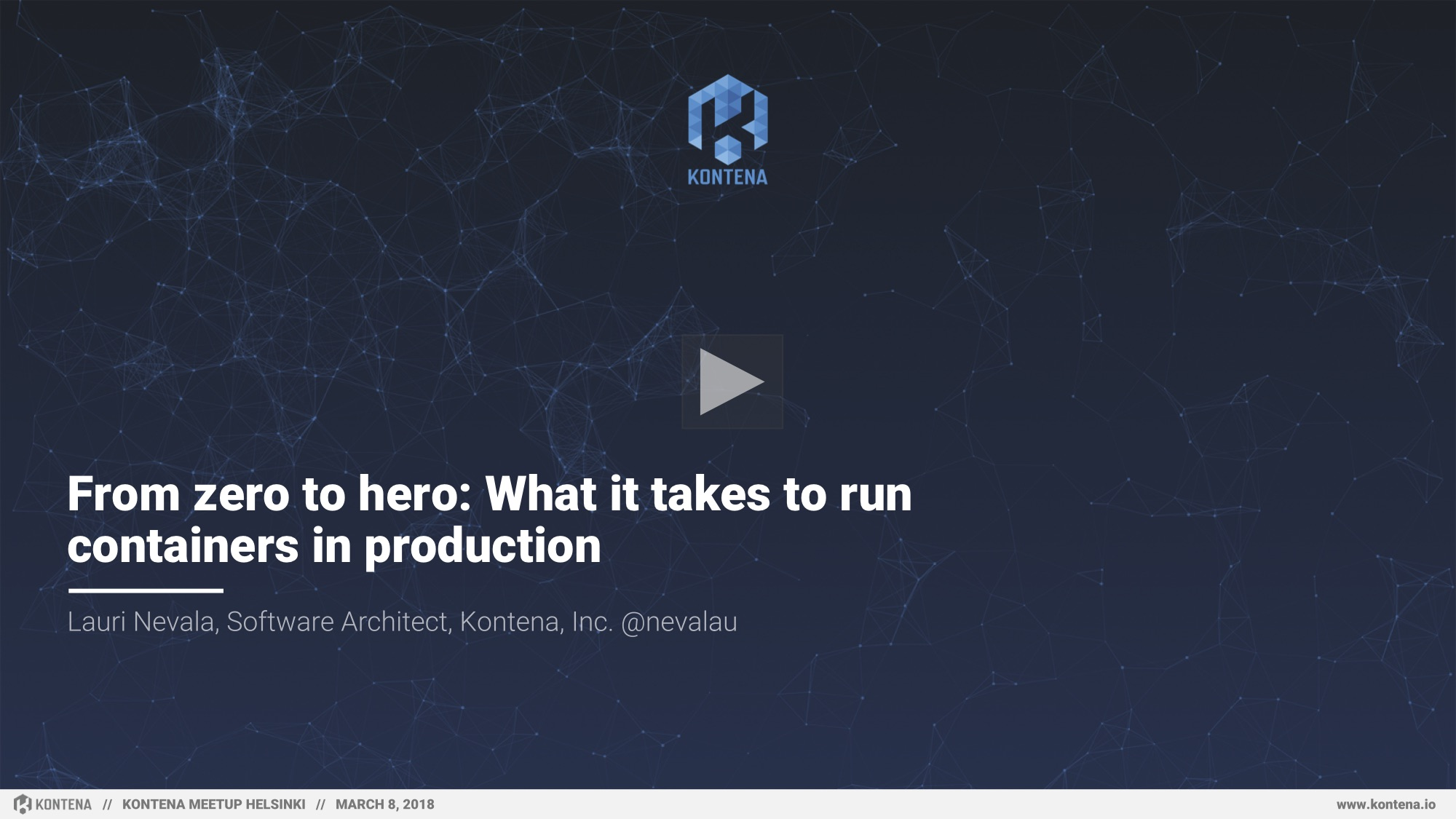 Kontena | Tutorial Video: Managing secrets & SSL