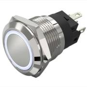 RUSTFRI 19mm IMP HVIT LYSRING 24V FLATSTIFT