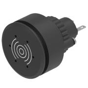 FLUSHMONTERT BUZZER FOR CUTOUT Ø-30,5mm 24V SORT. IP65