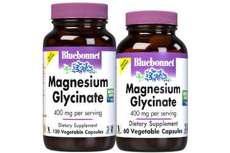 Bluebonnet's Magnesium Glycinate Vegetable Capsules