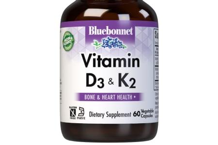 Bluebonnet's Vitamin D3 & K2 Vegetable Capsules