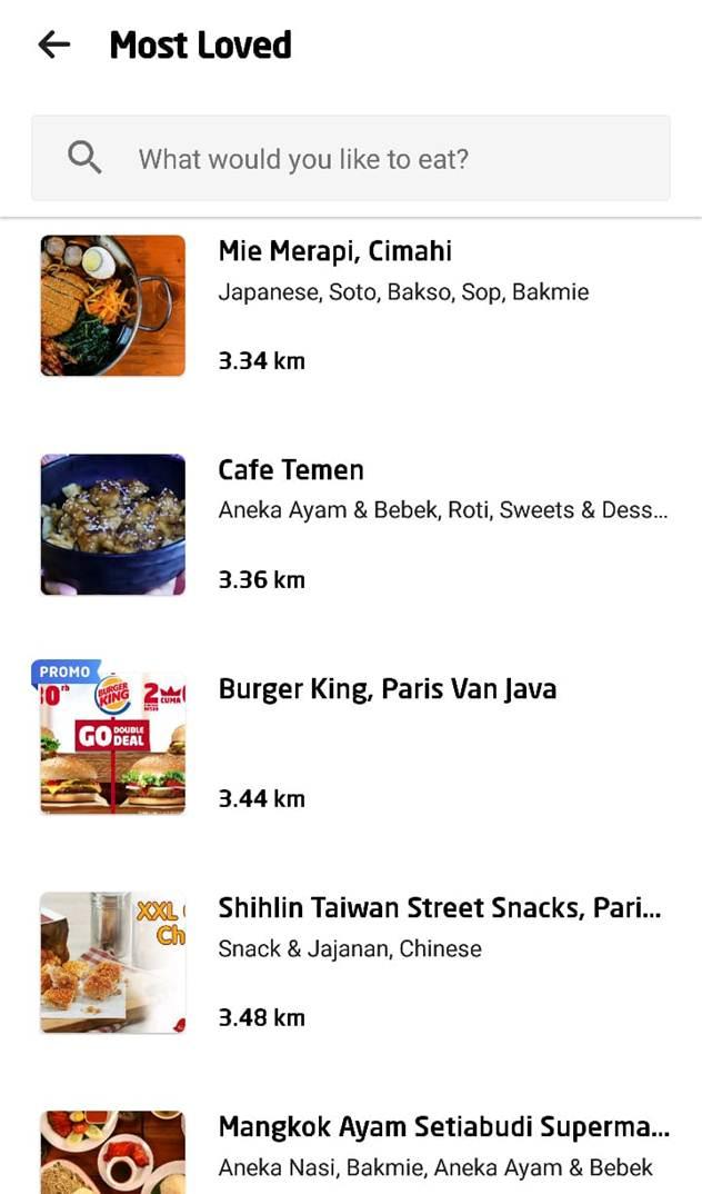 ojek online makan food