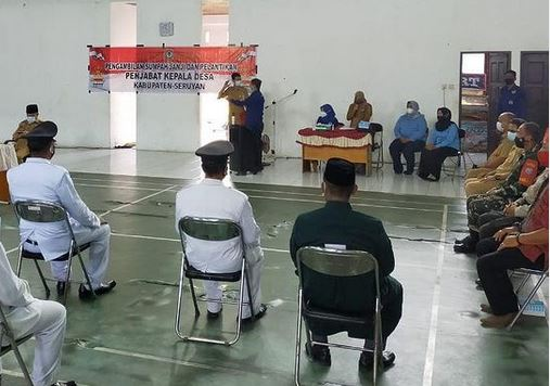 Danramil 1015-16/Pbh Menghadiri Pelantikan Perangkat Desa